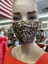 Cheetah/leopard Animal Print Face Mask With Adjustable Ear Elastic Washable
