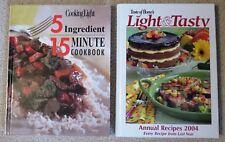 2 Hardcover Cookbooks 2004 Taste of Home's Light & Tasty & Cooking Light 5 Ingre