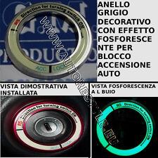 ANELLO GRIGIO TUNING BLOCCO ACCENSIONE EFFETTO FOSFORESCENTE YARIS 2007 2011