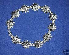 DAINTY TIBETAN SILVER 'DAISY CHAIN' FLOWER BRACELET