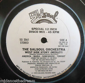 """THE SALSOUL ORCHESTRA ~ West Side Story ~ 12"""" Single USA PRESS PROMO"""