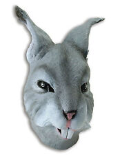 RABBIT HARE BUNNY MASK ADULT MENS LADIES GREY HEAD COSTUME MASK LATEX RUBBER NEW
