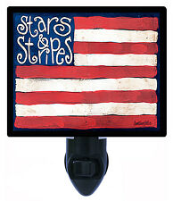 Night Light - Stars and Stripes - American Flag - Country - Patriotic