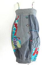 New desigual Bubble Mini Summer Dress Size 38 Patch Work on denim Design