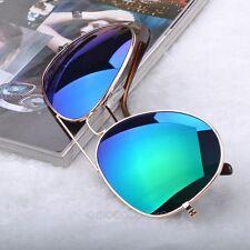 Gafas de sol unisex protección UV espejo aviador