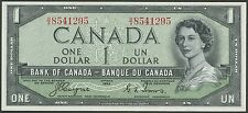 "CANADA BC-29a $1 1954 ""DEVIL'S FACE"" GEM UNC ORIGINAL NOTE BR9402"