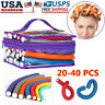 20-40PC Twist Flex Flexi Rods Foam Magic Hair Curlers Curling Iron Styling Tools