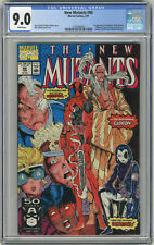 1991 New Mutants 98 CGC 9.0 1st Deadpool White Pages