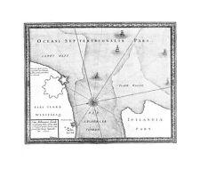 Antica mappa, situs ahlborger fiordt …