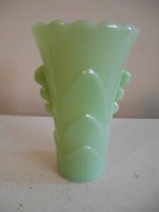 "Vintage Art Deco Anchor Hocking Fire-King Jadeite Green Glass Small Vase 5 1/4"""