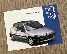 Peugeot 106 XS 1.4 Brochure