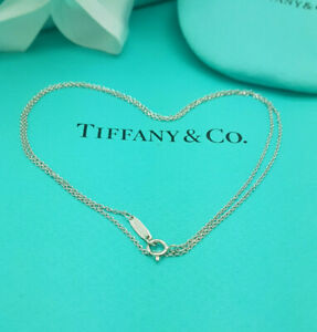 Tiffany & Co.18Ct White Gold 18Inches Chain Necklace, Full UK Hallmarked!