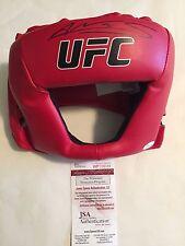 Amanda Nunes Autographed UFC Head Gear JSA Witnessed COA
