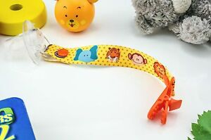 Hand Made Animals Baby Dummy Clip Pacifier Clips Soother Dummy Chain Holder