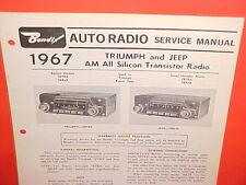 1967 TRIUMPH SPITFIRE MK II III TR4A GT6 I JEEP BENDIX AM RADIO SERVICE MANUAL