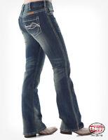 Cowgirl Tuff Women's Medium Wash Boot Cut Jeans  DFMI CREAM  SALE!!