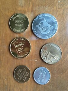 6 Minnesota vintage tokens medals: Territorial centennial, Albany area, lucky //