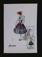 SPANIEN MK 1968 TRACHTEN CORUNA COSTUMES MAXIMUMKARTE MAXIMUM CARD MC CM c5489