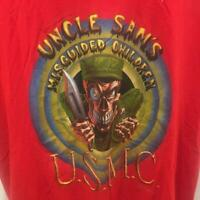 Uncle Sams Misguided Children USMC Vtg Red Tee Shirt 1991 XL 46 Made USA Marines
