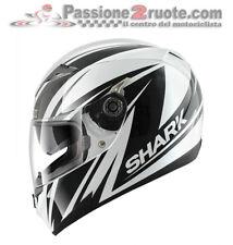 Casco integrale moto Shark S700 Line Up bianco nero taglia XS