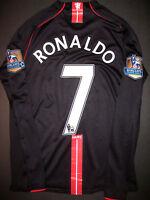 2007-2008 Nike Manchester United Cristiano Ronaldo Long Sleeve Jersey Kit Shirt