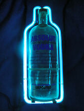 ABSOLUTE VODKA NEON GLASS BOTTLE SIGN