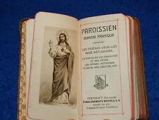 1905 MISSEL ROMAIN paroissien PRIERES evangile TURNHOUT BREPOLS
