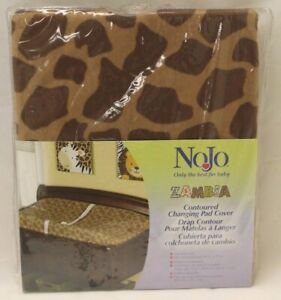NoJo Animal Print Contoured CHANGING TABLE PAD COVER Giraffe Zambia Brown NEW