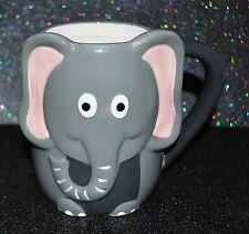 New Tag Shaped Coffee/Tea Mug/Cup Lucky Elephantsafari Cute 3D Hand Painted