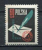 35662) Poland 1958 MNH Stamp Day 1v Scott #820