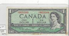 **1954**Canada $1 Note, Lawson/Bouey. BC-37d ; V/F 8653569