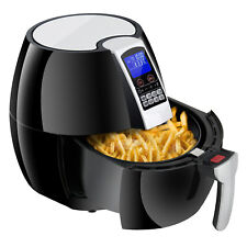 1500W LCD Electric Air Fryer W/ 8 Cooking Presets, Temperature Control, Timer