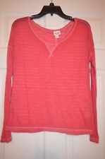 Mossimo Women's Size S Small red lightweight long sleeve top