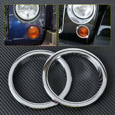 2pcs Chrome Fog Lights Lamp Cover Trim Decoration For 2007-2015 Jeep JK Wrangler