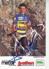 CYCLISME carte cycliste ALBERTO VOLPI  équipe MECAIR ecologia BALLAN signée