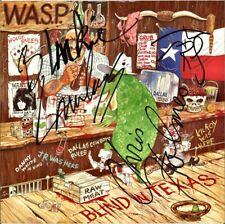 """W.A.S.P. Blind in Texas, VINYL 12"""" Blackie Lawless Chris Holmes Autograph SIGNED"""