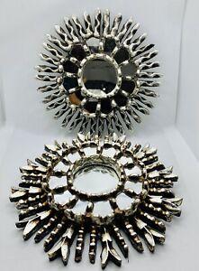 New! Round Decorative  Mirror - Peruvian Sunburst frame covered with Gold leaf