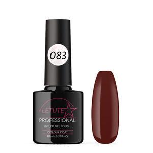 083 LETUTE™ Dark Red Brown Soak Off UV/LED Nail Gel Polish
