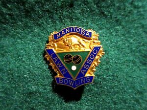 Manitoba Lawn Bowling Association Vintage Pin Birks