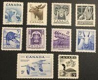 Canada Stamp Series Set of 1953 - 57, National Wildlife, MNH