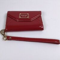 Michael Kors Jet Set Travel Small Phone Case Wallet Wristlet Glossy Red. T3
