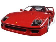 FERRARI F40 RED 1/24 DIECAST MODEL CAR BY BBURAGO 26016