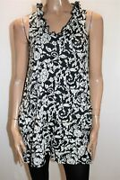 QUELQUE Brand Black White Textured Front Pockets Tunic Top Size 8 BNWT #RD06