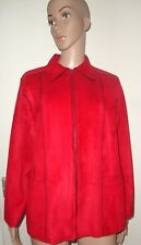 ALFRED DUNNER, USA 10P, RED FAUX SUEDE JACKET/COAT, NWOT, PETITE,