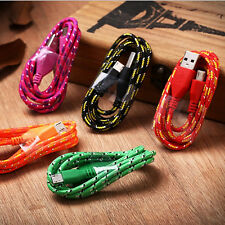 Knitting charging cord Nylon charger cable phone connector USB line for android