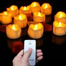 12pcs Flickering Flameless Candles Led Tea Lights with or without remote