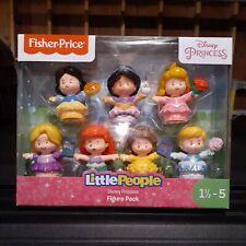 NIB Fisher-Price Little People Disney Princess Figure 7 Pack Toy Ariel, Belle