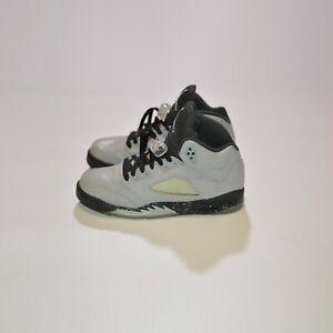 Jordan 5 Retro Wolf Grey GS 440892-008 Hi-Top Sneakers Size 6.5Y / 39