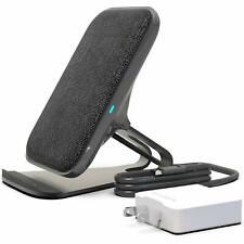 RAIGEN Wireless Charging Stand + Quick Charge AC Adapter Modern Fabric Canvas
