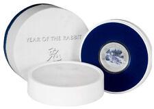 2011 Pitcairn Islands $2 Lunar Rabbit 1 oz .999 Silver Coin -  Paw Print Box